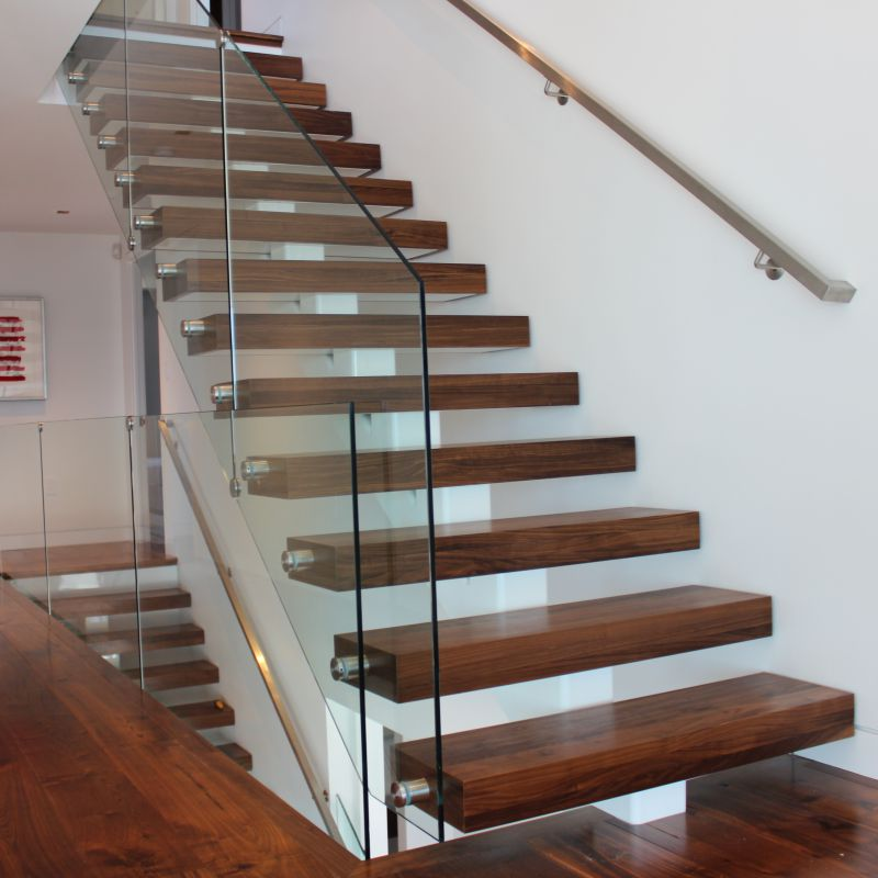 3.5 inch Thick Stair Treads Walnut 1A