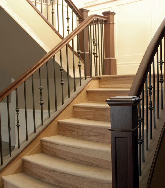 Staircase 16-A Walnut Box Newels