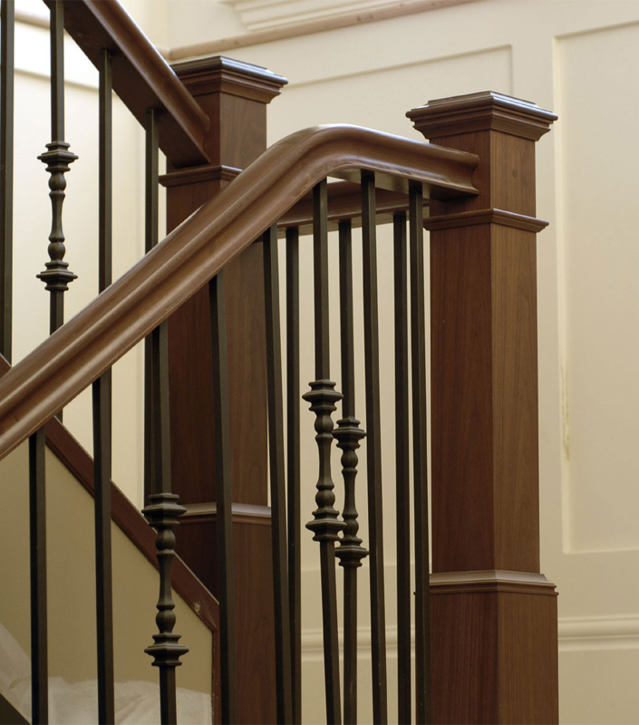 Staircase 16-B Walnut Box Newels