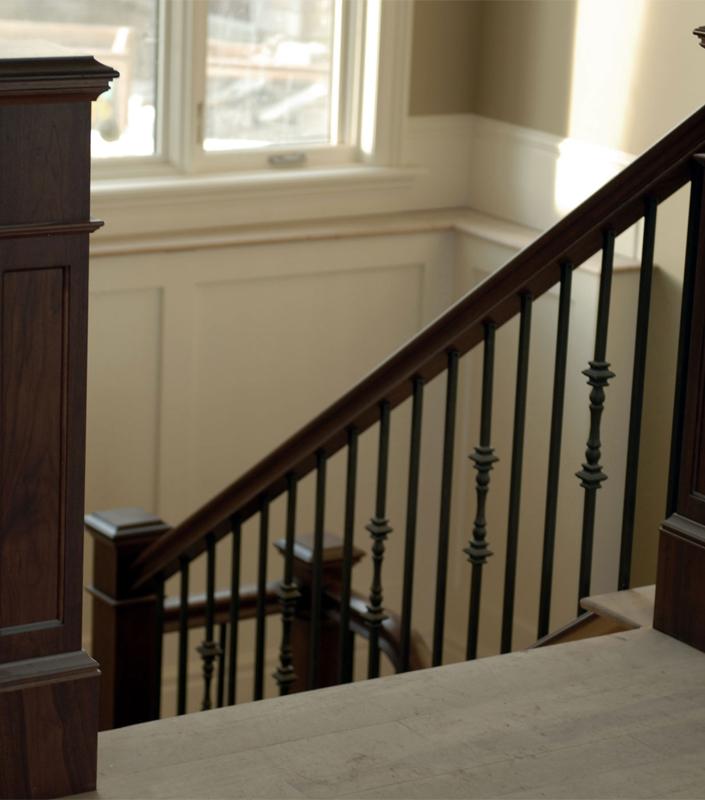 Staircase 16-C Walnut Box Newels