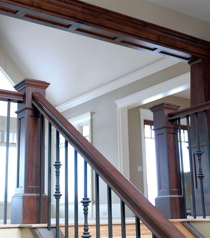 Staircase 16-D Walnut Box Newels