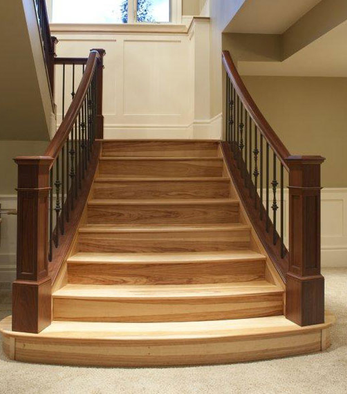 Staircase 16-E Walnut Box Newels
