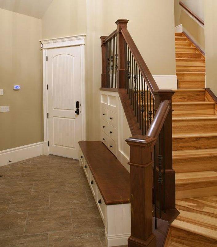 Staircase 16-F Walnut Box Newels