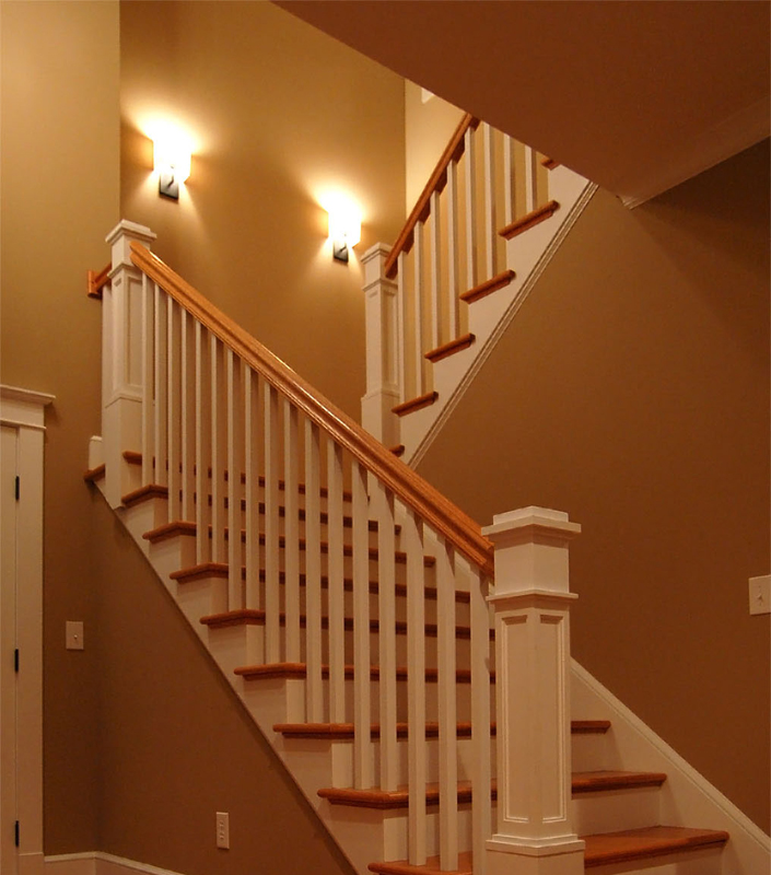 Staircase 31-A with flat panel box newel