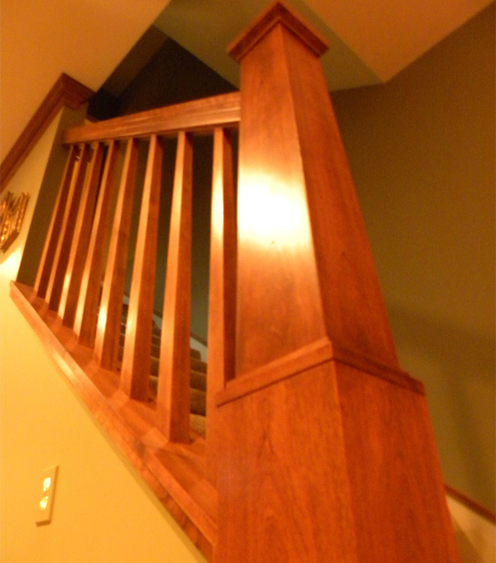 Staircase 4-A with tapered box newel and balusters