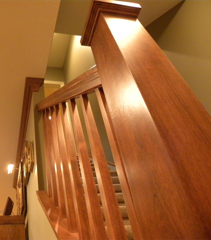 Staircase 4-B with tapered box newel and balusters