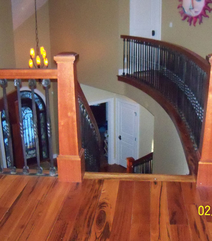 Staircase 6-B tapered newel posts