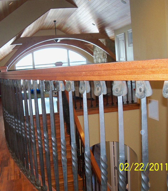 Staircase 6-C tapered newel posts