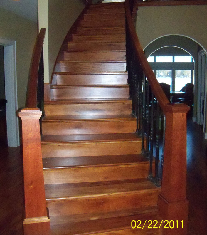 Staircase 6-D tapered newel posts