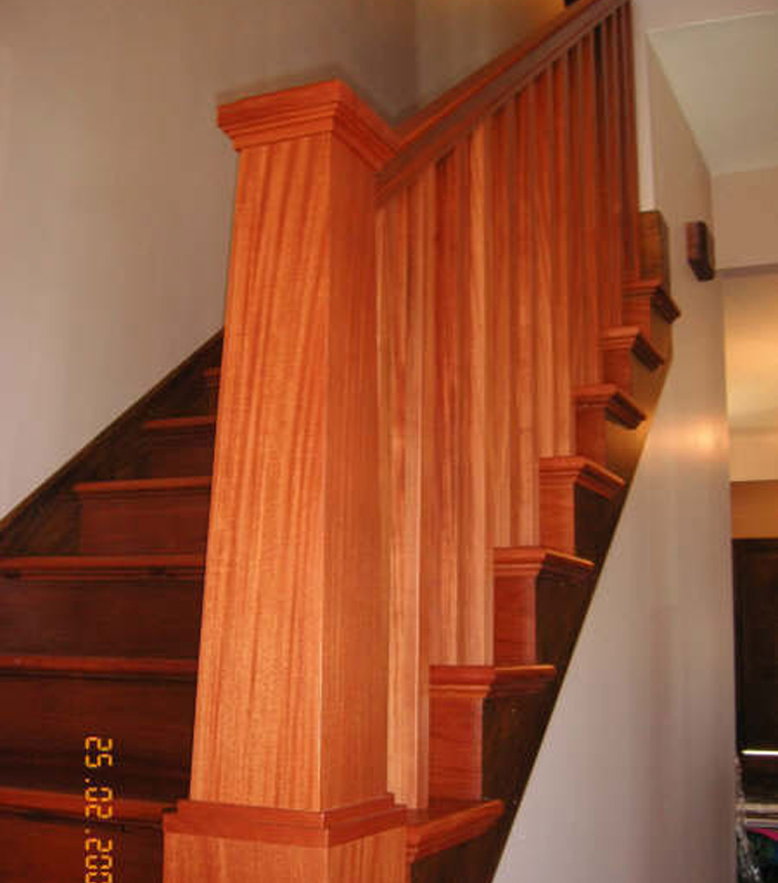 Staircase 8-A tapered box newels