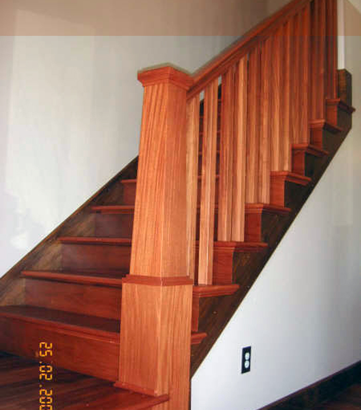 Staircase 9-B tapered box newels