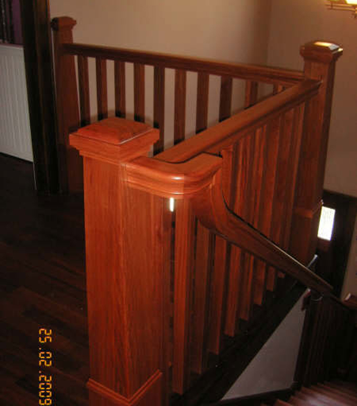 Staircase 9-D tapered box newels