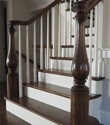 Wood Stair Parts. Large Newel Posts
